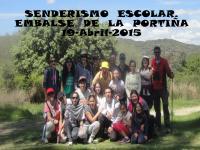 Senderismo Escolar al embalse de la Portiña. Abril de 2015